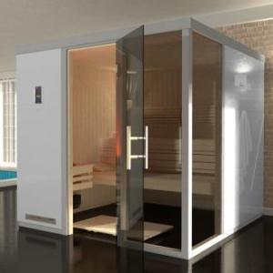 WEKA | Premium design | Sauna Bianco 1 R | 217 x 183 cm