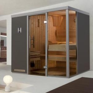 WEKA | Premium design | Sauna Grigio 1 L | 217 x 183 cm