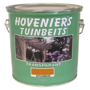 tenco hoveniers tuinbeits transparant groen 2.5 ltr