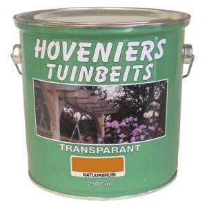 tenco hoveniers tuinbeits transparant natuurbruin 2.5 ltr