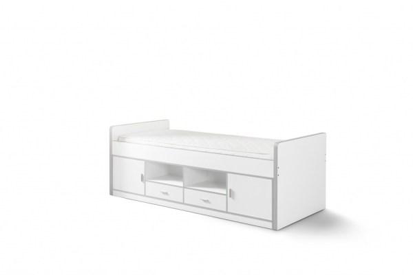 Eenpersoonsbed Bonny wit (90 x 200)