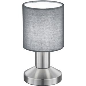 LED Tafellamp - Tafelverlichting - Trion Garno - E14 Fitting - Rond - Mat Grijs - Aluminium