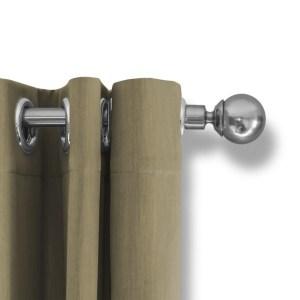 LIFA LIVING Verduisterende Gordijnen, Beige Polyester Gordijn, Modern Geluidswerend Gordijn met Ringen voor Woonkamer, Slaapkamer, 300 x 250 cm