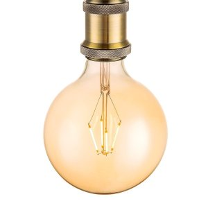 Light depot - LED lamp Globe G125 E27 4W dimbaar - amber - Outlet