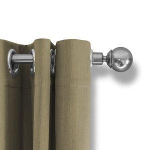 LIFA LIVING Verduisterende Gordijnen, Beige Polyester Gordijn, Modern Geluidswerend Gordijn met Haken voor Woonkamer, Slaapkamer, 300 x 250 cm