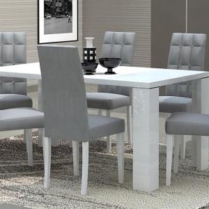 Eettafel GARCIA 160 cm hoogglans wit