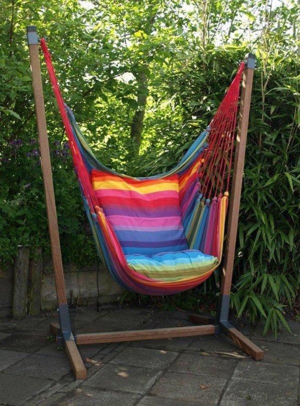 Hangstoel set Rainbow XL incl. 2 kussens