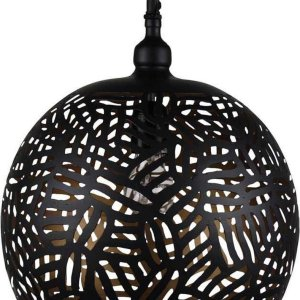 Oosterse Hanglamp Zebra Faiza Zwart Goud Ø 30 x 40cm Handgemaakt