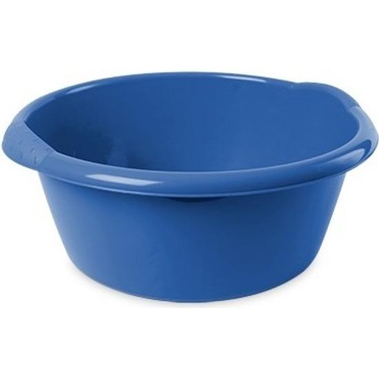 Rond afwasteiltje/emmertje blauw 3 liter 25 x 10,5 cm schoonmaakartikelen -