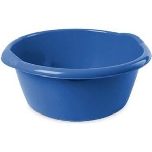Ronde afwasteil/emmer blauw 15 liter 42 x 17 cm schoonmaakartikelen