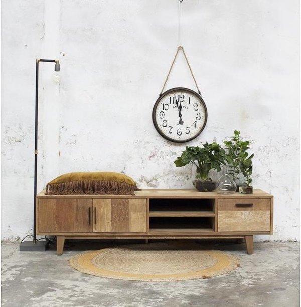 TV Meubel Hout - 180x45x50cm - Tv-meubel Rafael 180cm - Giga Meubel