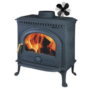 zwarte haarden 4 blad 4 warmte aangedreven kachel ventilator komin houtkachel milieuvriendelijke stille ventilator thuis efficiënte warmteverdeling