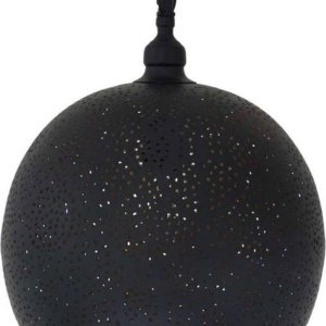 Oosterse Hanglamp Abeer Zwart Goud Ø 30 x 40cm