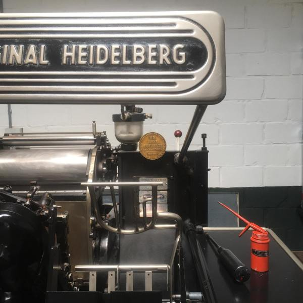 Cleaning and oiling the Heidelberger.
