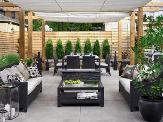 tuin met tegels
