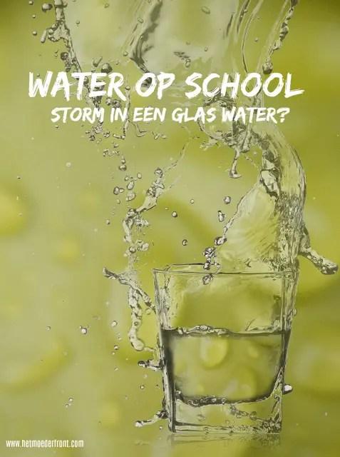 water mee naar school