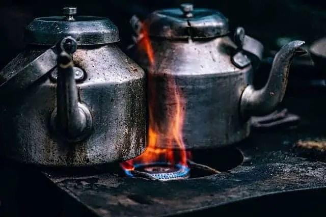 koken op gas