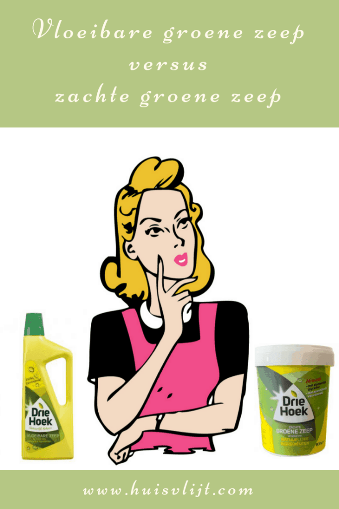 vloeibare groene zeep versus zachte groene zeep