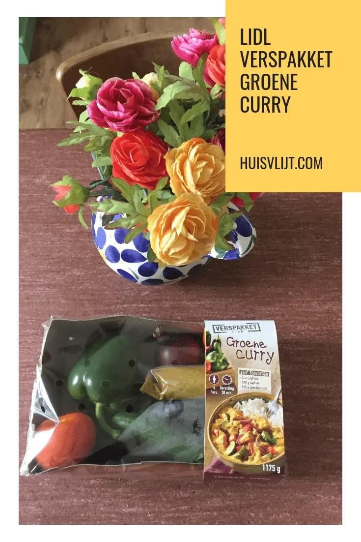 Het menu van vandaag: Lidl verspakket voor groene curry