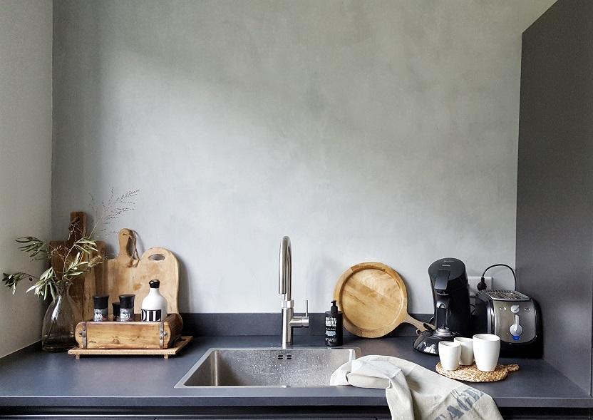 Betonlook Muur Prijs : Betonlook muur woonkamer elegant betonlook muur in badkamer with