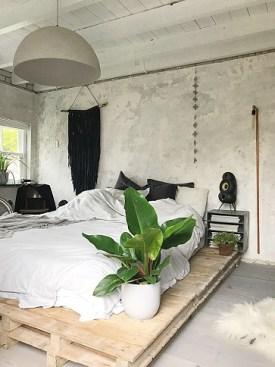 Industriële slaapkamer betonnen muren