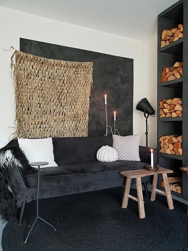 grijze loungebank beni ourain berber vloerkleed