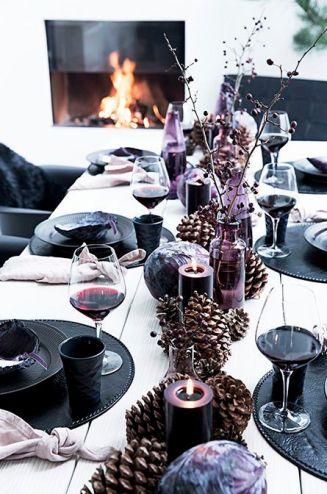 een gezellige kersttafel