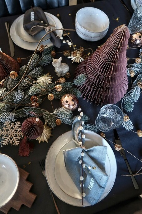 christmas table setting christmasdecoration