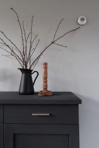 kandelaar zwarte vaas