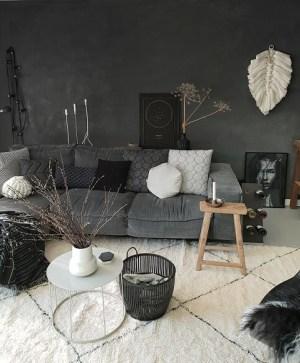 grijze loungebank berber vloerkleed