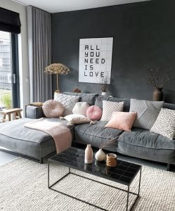 een knusse woonkamer