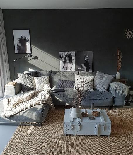 grijze woonkamer