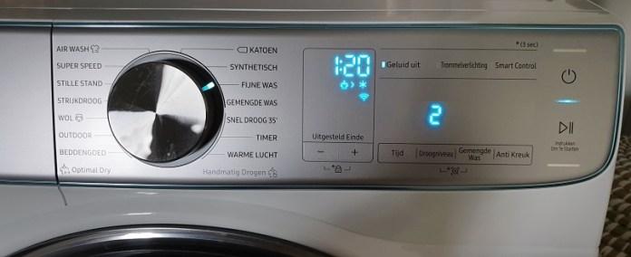 warmtepompdroger display