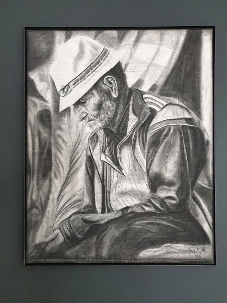 kunstbloc schilderij oude man