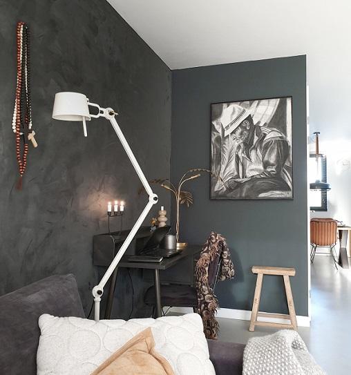 kunstbloc schilderij zwarte muur