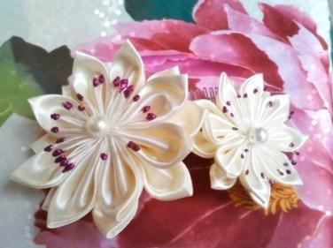 Fleurs en tissu Kiff et Wak
