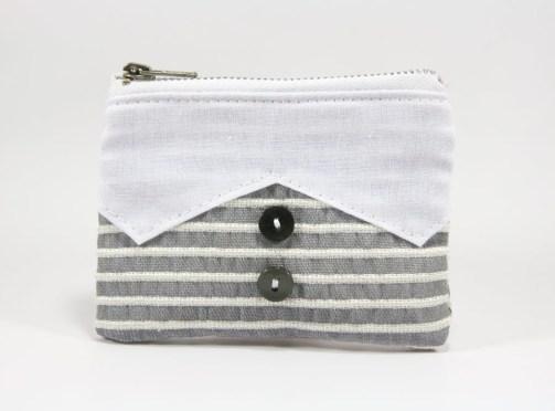 Porte-monnaie chemise grise
