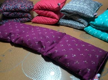 Bouillotte Huka - Coton violet fleuri