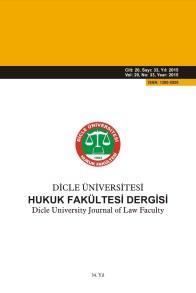 Dicle Üniversitesi Hukuk Fakültesi Dergisi
