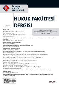 İstanbul Kültür Üniversitesi Hukuk Fakültesi Dergisi