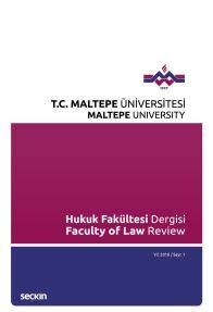Maltepe Üniversitesi Hukuk Fakültesi Dergisi