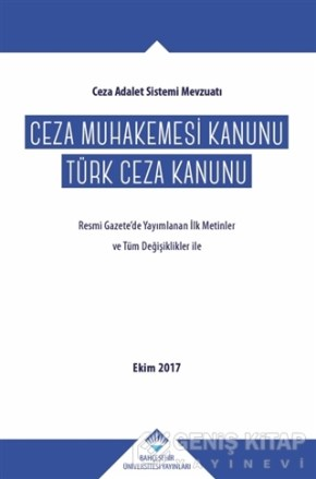 Feridun Yenisey Ceza Muhakemesi Kanunu - Türk Ceza Kanunu