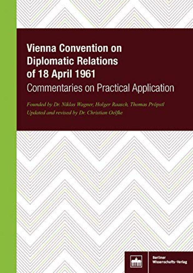 Diplomatik İlişkiler Hakkında Viyana Sözleşmesi (Viyana Konvansiyonu), 18 Nisan 1961 tarihinde Avusturya'nın başkenti Viyana'da imzalanmıştır. Neredeyse evrensel olarak kabul edilmiş ve 179 devletin katıldığı bir Sözleşme olmuştur.