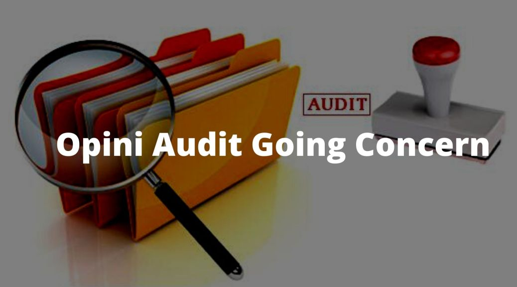Opini Audit Going Concern