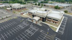 aerial view of a large parking lot - aerial-view-of-a-large-parking-lot