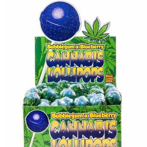 Cannabis Lollipops - Bubblegum x Blueberry