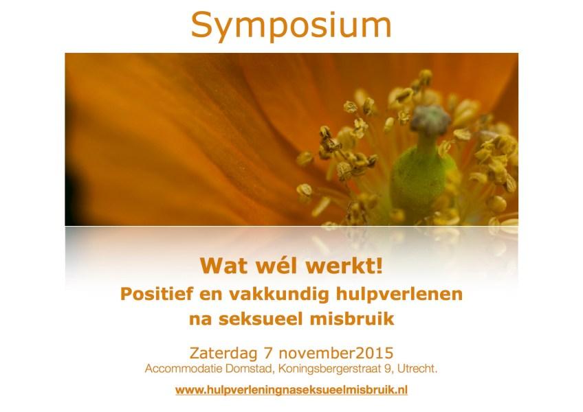 Symposium 'Wat wél werkt!' 7 november 2015, Utrecht