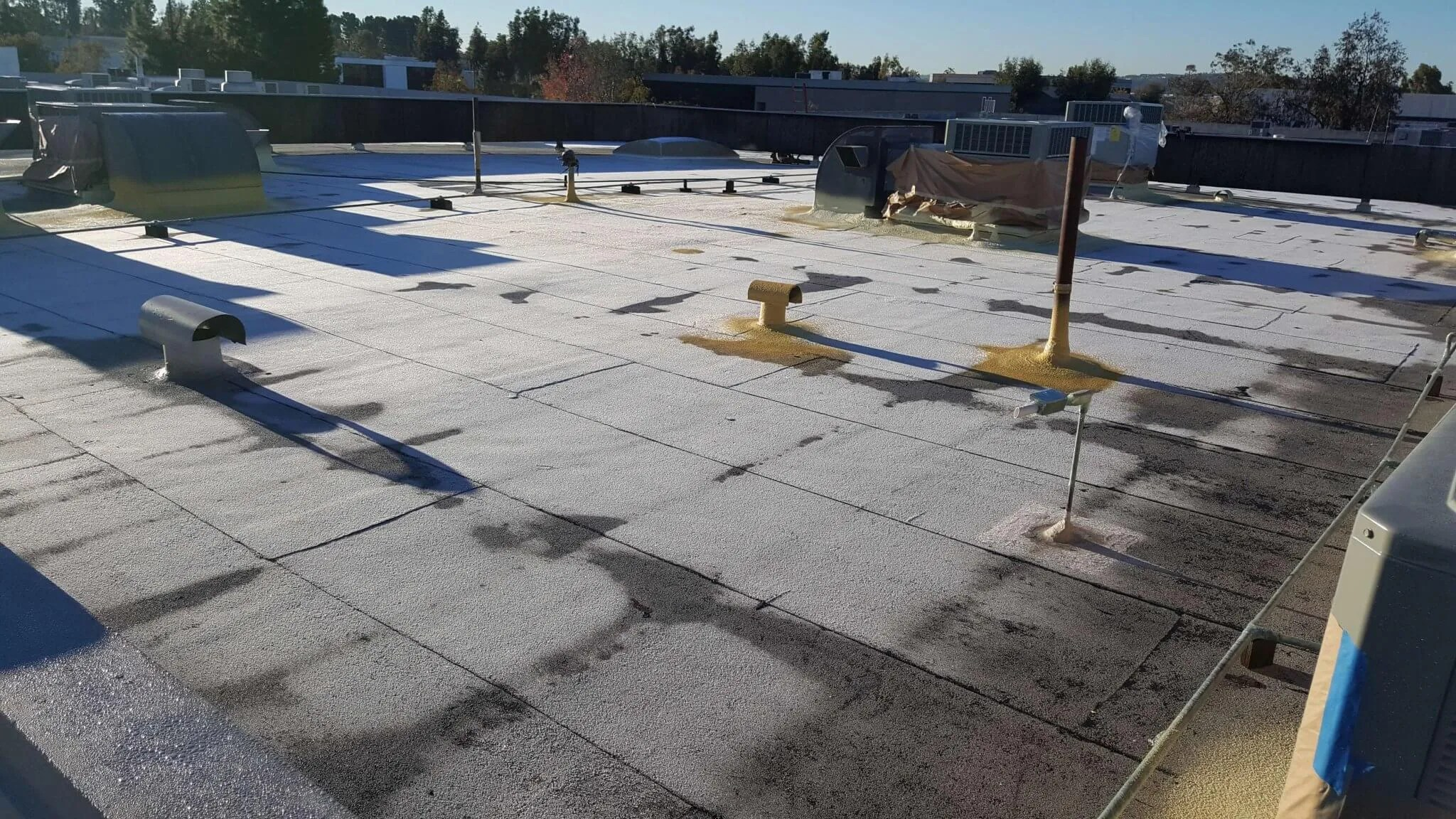 Hulsey Contracting Inc Spray Foam Roof Before ...
