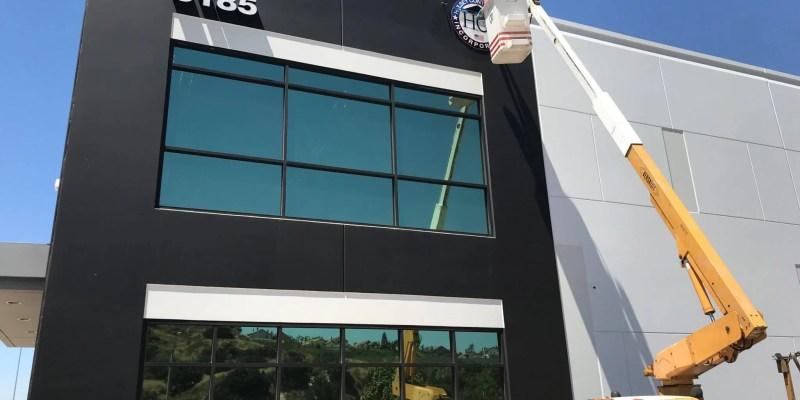 Hulsey Contracting Inc Corona CA, Office Sign Installation
