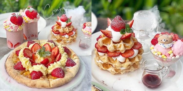 台南美食「雛菊餐桌」草莓控!草莓控必訪的草莓甜點~義大利麵/燉飯都超美味. 台南聚餐 下午茶 IG熱門打卡 